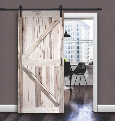 Wormy Maple K-Pattern Barn Door