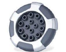 "5"" 14 Port Massage Jet: Divine / No Black O-ring on back stem #23456-042-999 - Thermal Hydra Plastics"