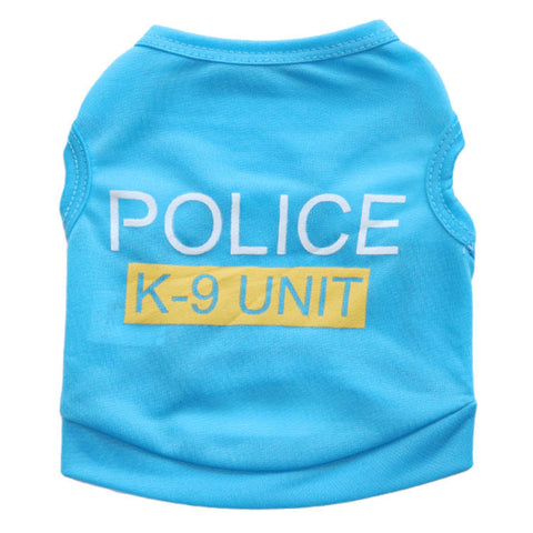 K-9 Unit Light Blue Pet Top