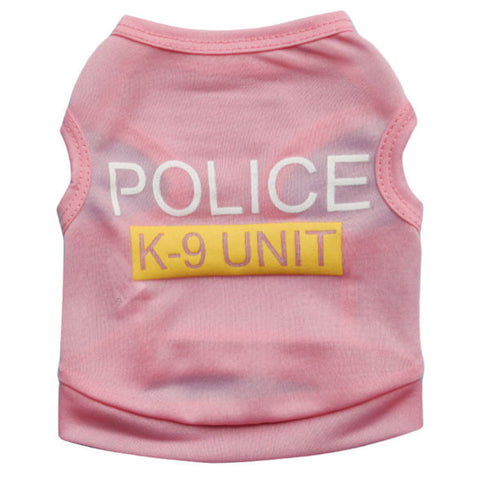 K-9 Unit Pink Pet Top