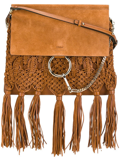 Chloé Faye Tassel Caramel Shoulder Bag
