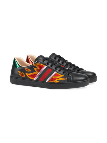 Gucci Ace Sneakers with flames