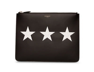 Givenchy Black Leather Stars Pouch