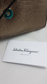 Ferragamo Mini Vara Graphite Bag