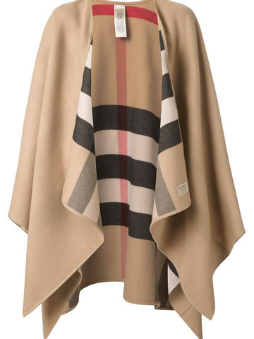 Burberry Merino House Check Cape