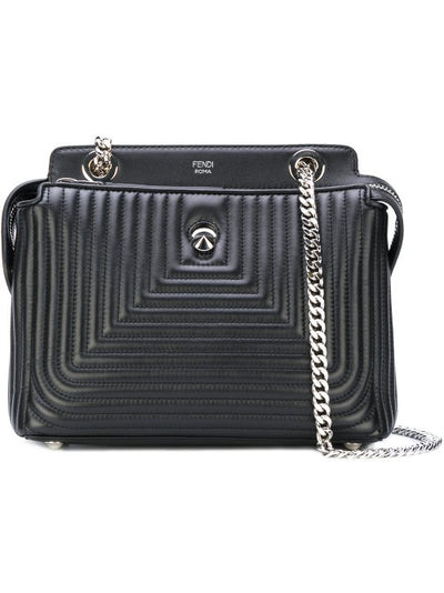 Fendi Dotcom Quilted Black Palladio Handbag