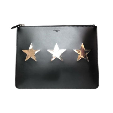 Givenchy Black Leather Pouch