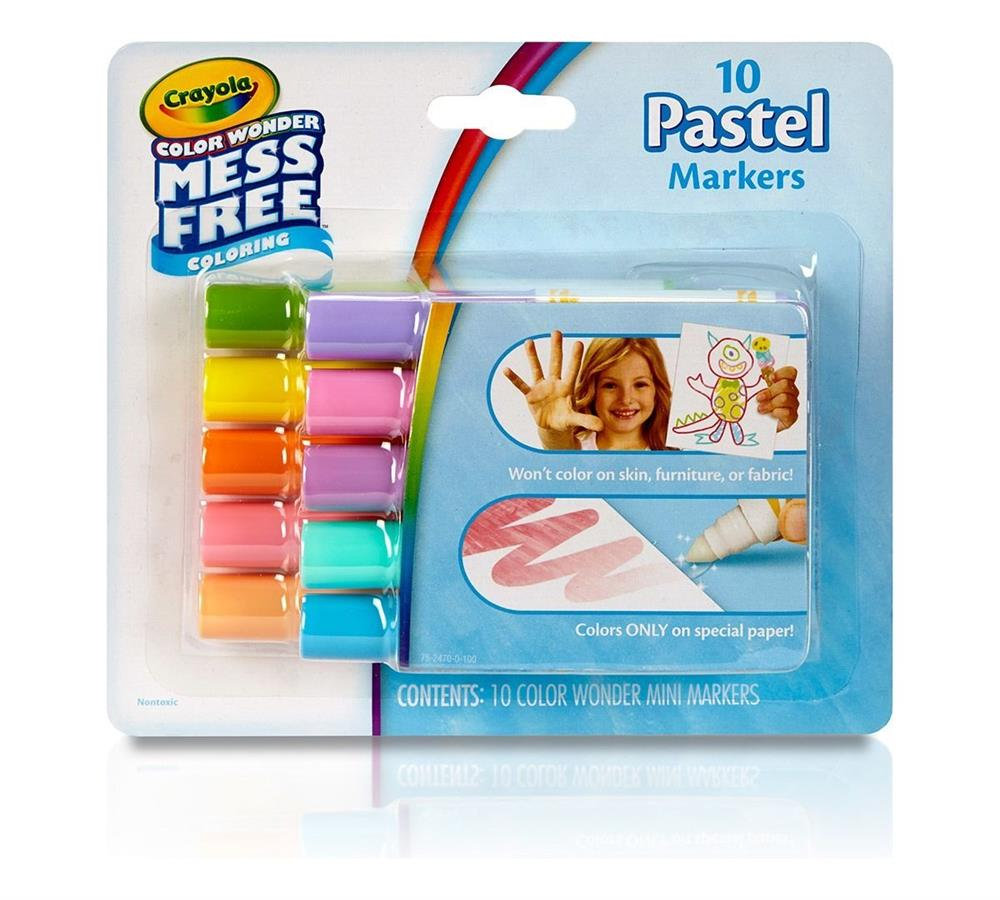 Crayola Colour Wonder Colouring 10 Pastel Markers