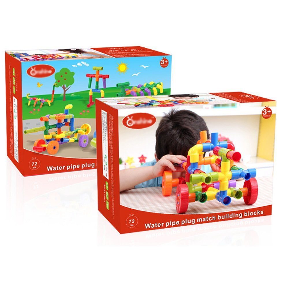 72Pcs Puzzle Building Blocks