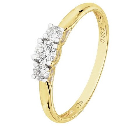 9ct Gold 0.33ct Tw Diamond