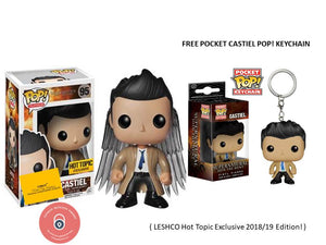 Castiel With Wings (Supernatural) Funko Pop Vinyl Figure With Free Funko  Pocket Pop Keychain LESHCO Hot Topic Exclusive 2018/19 Edition!
