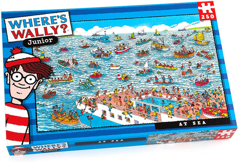 Where's Wally At sea Puzzle (250-Piece)