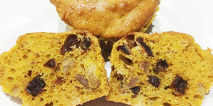 Pumpkin, Date, Walnut & Ginger Muffins