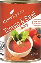 Ceres Organics Tomato and Basil Soup 400g (Can)