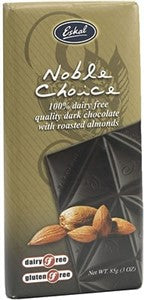 Dairy Free Dark Chocolate with Roasted Almonds - Eskal Noble Choice