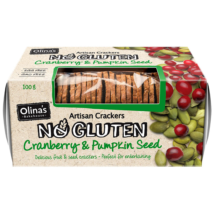 Olina's Cranberry & Pumpkin Seed Crackers