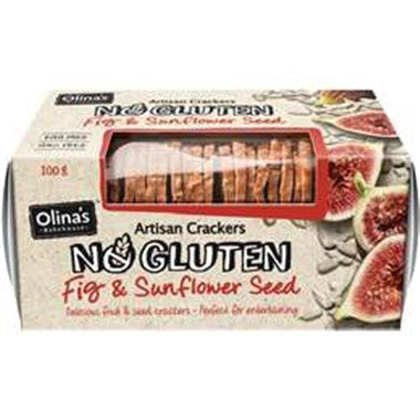 Olina's Fig and Sunflower Seed Artisan Crackers