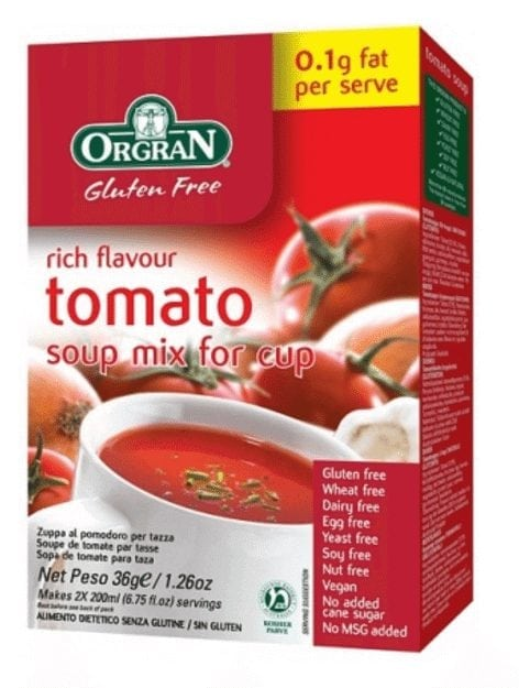 Orgran Tomato Soup Mix for Cup