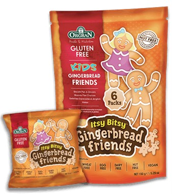 Orgran Kids Itsy Bitsy Gingerbread Friends