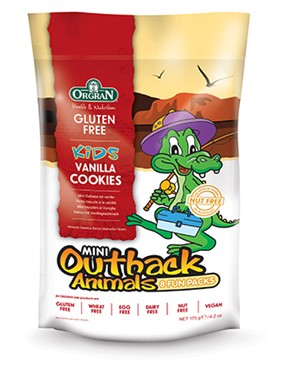 Orgran Mini Outback Animals Multipack Vanilla Cookies