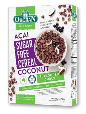 Orgran Sugar Free Cereal - Acai and Coconut (200g)