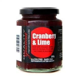 Quality Gourmet Cranberry and Lime Sauce