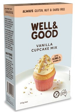 Well and Good Vanilla Cupcake Mix