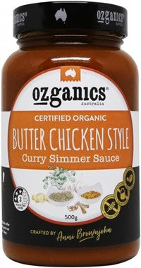 Ozganics Butter Chicken Style Curry Simmer Sauce