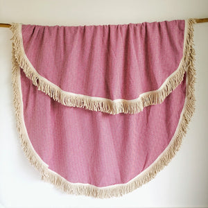 Round Turkish Towel - Pink