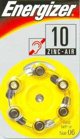 AC10 - 1,4V  hearing aid battery