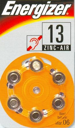 AC13 - 1,4V  hearing aid battery