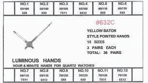 SF632C WATCH HANDS