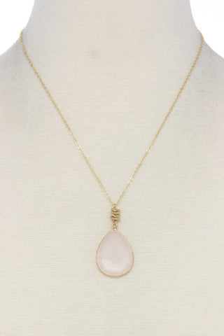 Image of Stone tear drop shape necklace