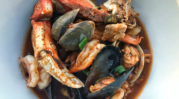West Coast Style Cioppino Seafood Stew with Chilau Sauce