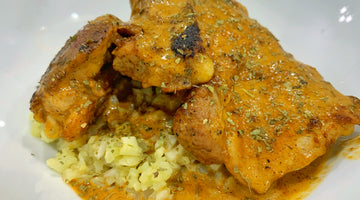 Smothered Chicken with Chilau Gumbo