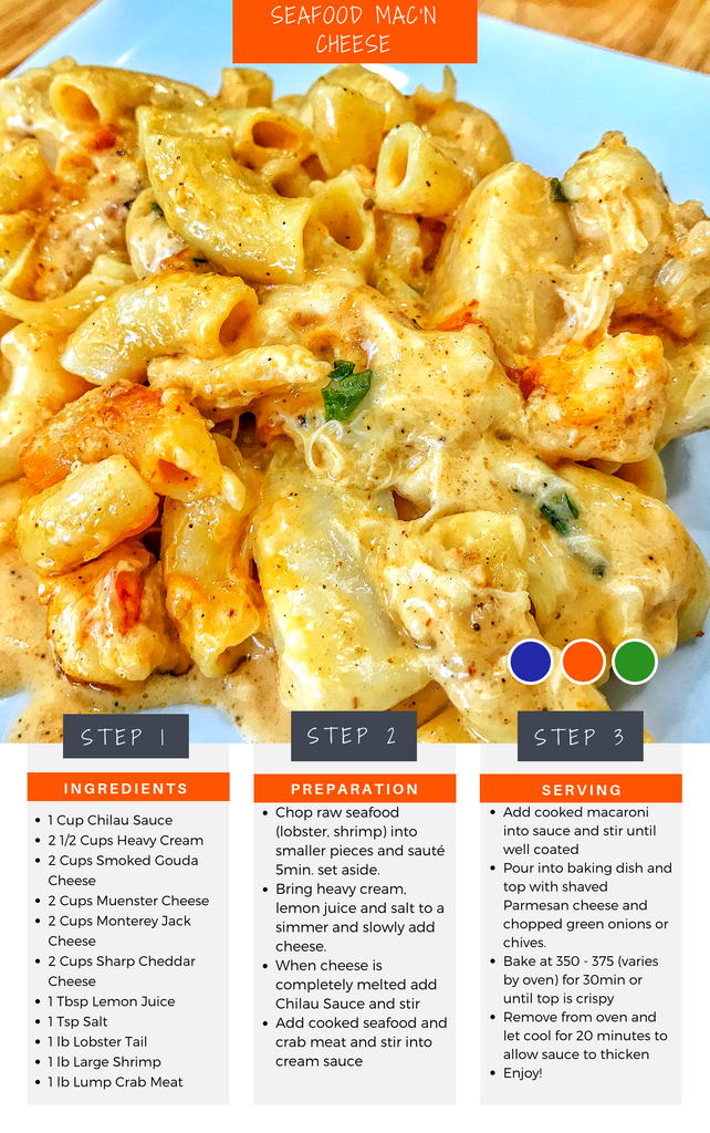 Seafood Mac'n Cheese Recipe