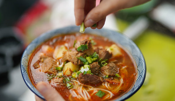 Soup with meat and noodles