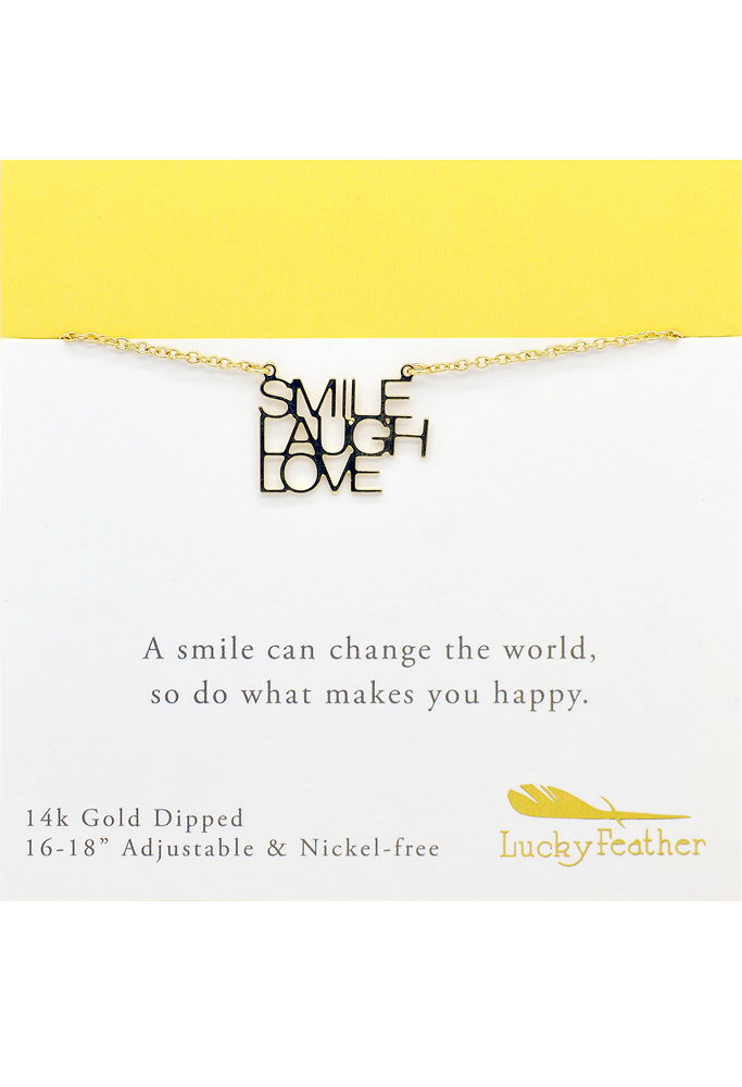 Strong and Sassy - Gold Necklace - Smile Laugh Love