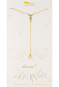 Y Necklaces - Gold - Fall In Love