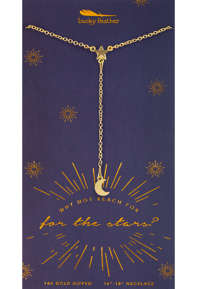 Y Necklaces - Gold - Reach For Stars