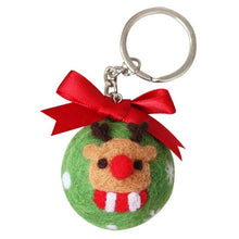 Load image into Gallery viewer, Handmade Wool Felt Poked Keychain Needle Material Bag Kit for DIY Christmas Ball Weaving Needlework Spinning Craft