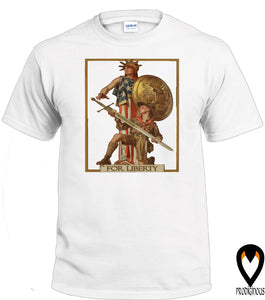For Liberty - Classic Scout Image - T-Shirt