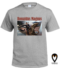 Load image into Gallery viewer, Ronaldus Magnus - Reagan Riding Dinosaur  - T-Shirt