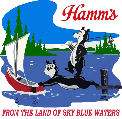 Classic Hamm's Beer - Retro Fishing T-Shirt