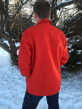 Load image into Gallery viewer, Red Wool Jac-Shirt w/Pockets & Silk Liner