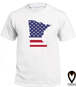 Minnesota -US Flag - T-Shirt