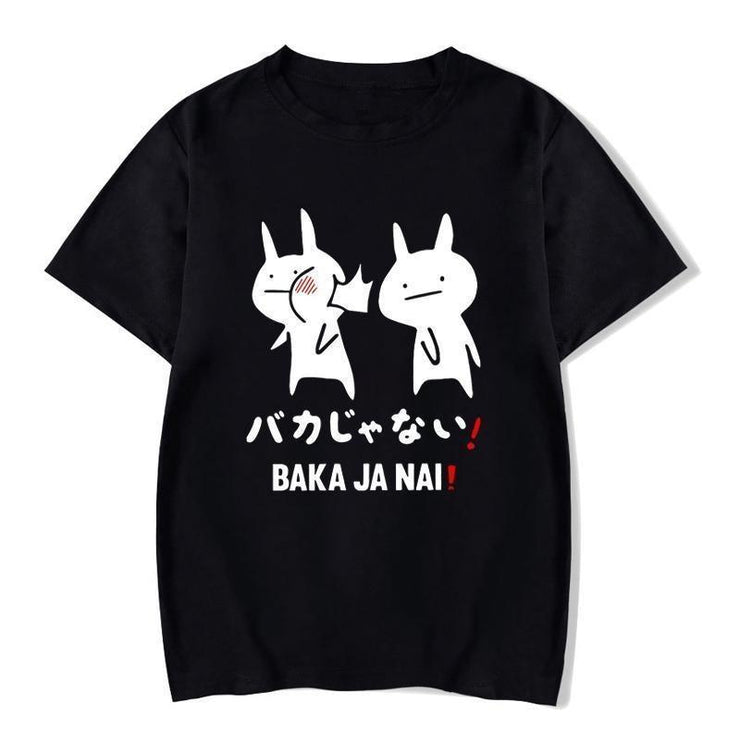 Baka Rabbit T-Shirt Japanese Harajuku Top Baka Ja Nai / XS Gotamochi BTS MERCH BT21 MERCH KAWAII STORE