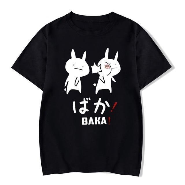 Baka Rabbit T-Shirt Japanese Harajuku Top Baka / XS Gotamochi BTS MERCH BT21 MERCH KAWAII STORE