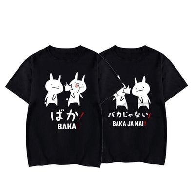 Baka Rabbit T-Shirt Japanese Harajuku Top Gotamochi BTS MERCH BT21 MERCH KAWAII STORE