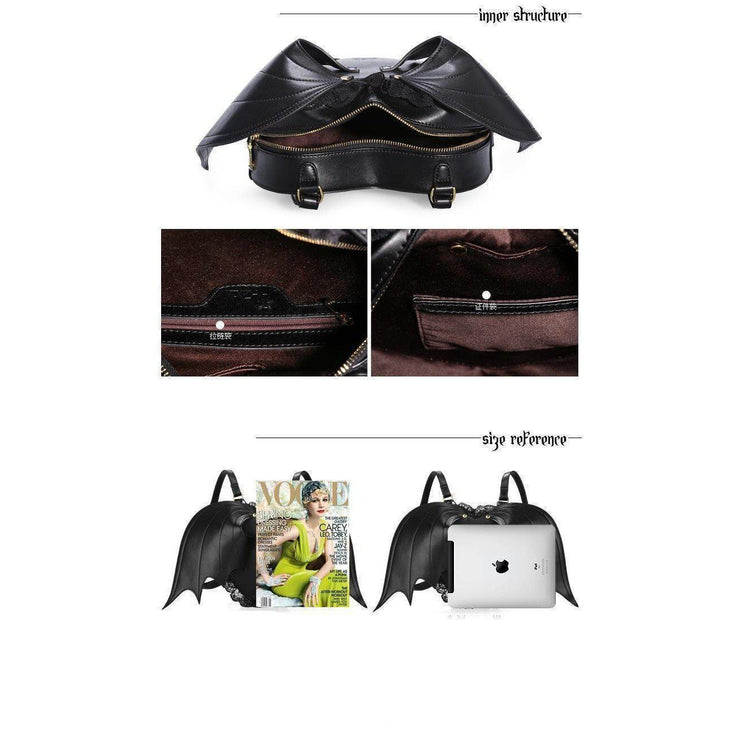 Bat Wing Backpack Little Devil Gothic Bag Gotamochi BTS MERCH BT21 MERCH KAWAII STORE